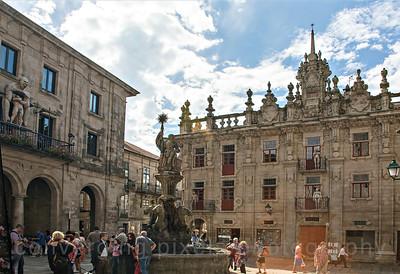 Santiago de Compostela, Vigo, Spain:  Plaza