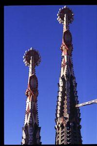 Sagrada Familia -- Passion facade steeples