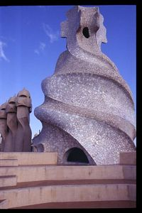 Rooftop chimneys (2) -- Casa Mila