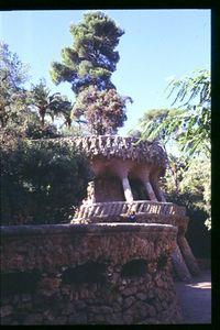 Landscape garden in Parc Guell