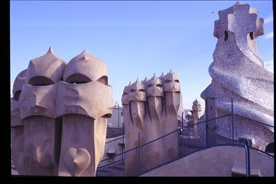 Rooftop chimneys (1) -- Casa Mila