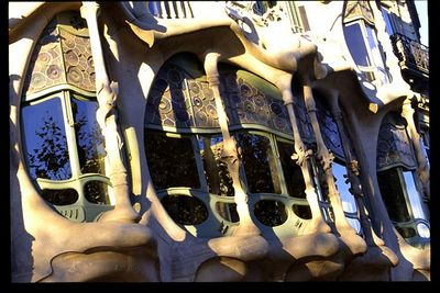Casa Batllo facade detail (1) -- morning light