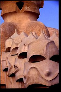 Rooftop chimneys (4) -- Casa Mila