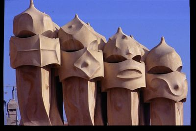 Rooftop chimneys (3) -- Casa Mila