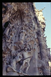 Sagrada Familia -- Nativity facade detail