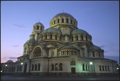 Alexander Nevski Cathedral twilight