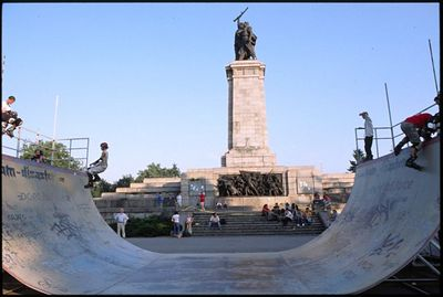 Liberation Monument takes backseat to rollerbladers