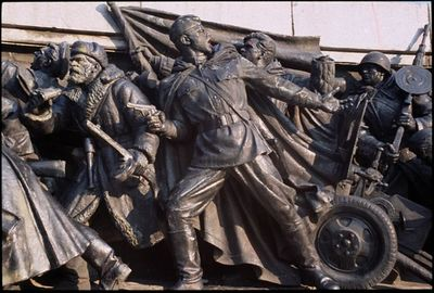 Relief on Monument to Soviet Liberation - Sofia