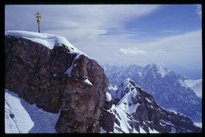 Sumit of the Zugspitz, Bavarian Alps