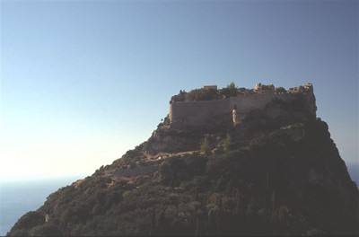Angel fortress near Paleplastrotsa on Corfu