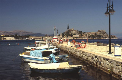 View from south of Corfu Town