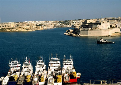 Fort Saint Angelo from Valletta (2)