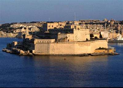 Fort Saint Angelo from Valletta (1)