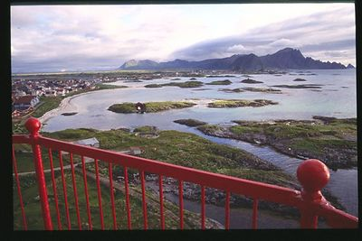 Andoya rocket range and Andenes from top of lighthouse