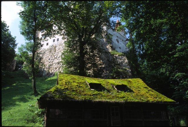 Buildings below Bran Castle