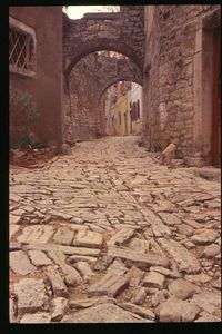 Ancient street -Bale, Croatia