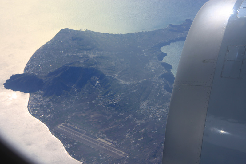 Flying over Santorini on the way to Cairo, 2007