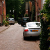 Quaint streets filled Naarden, obviously designed before parking was a consideration.