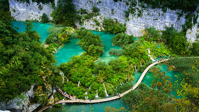 Plitvice: Boardwalk