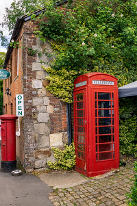 Phone Booth in Avebury, England