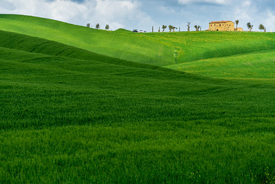 A farmhouse near Pienza, Tuscany