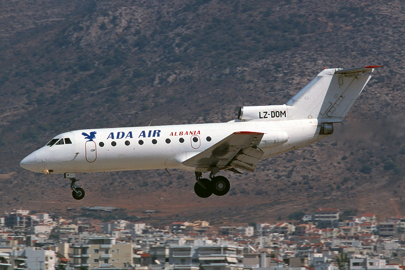 "LZ-DOM Yakovlev Yak-40 ""Hemus Air"" c/n 9620447 Athens-Hellenikon/LGAT/ATH 19-09-00 ""ADA Air"" (35mm slide)"