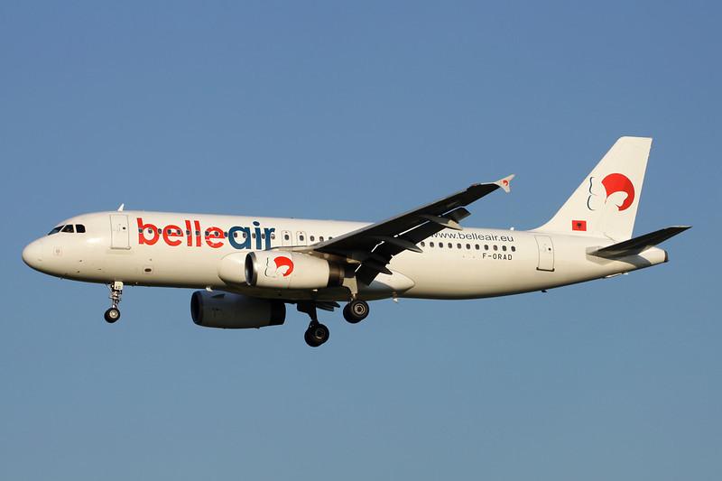 """F-ORAD Airbus A320-233 """"Belle Air"""" c/n 0558 Brussels/EBBR/BRU 07-07-13"""