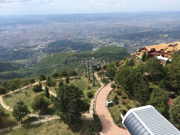 tirana mountain view