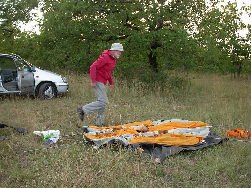 Py 0001 onze kampeerplek bij Cahors
