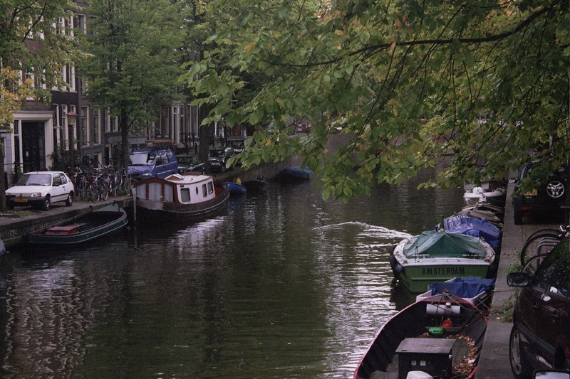 Boats on the Canal - Amsterdam, Netherlands