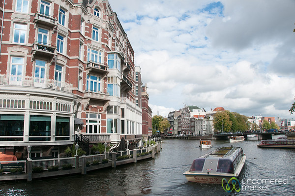 Clouds and Afternoon on the Gracht - Amsterdam