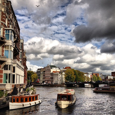 Afternoon boat ride on the gracht, Amsterdam canals #skyporn