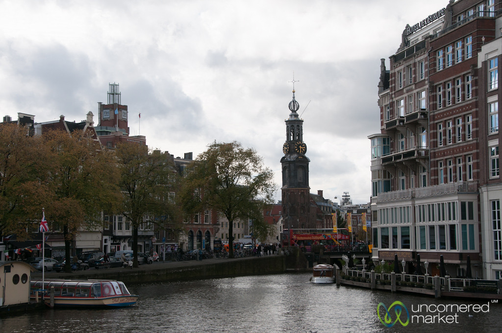 Amsterdam Canals and Church