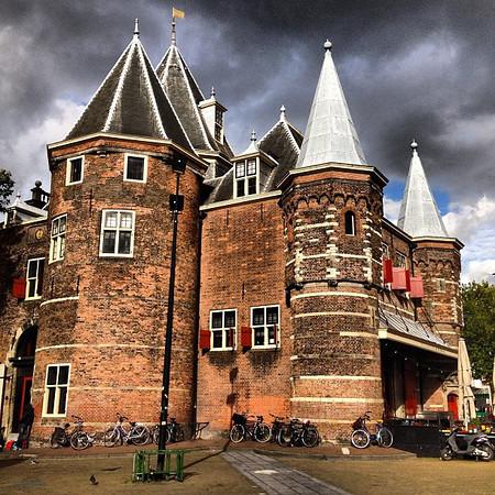 Storm brewing over De Waag -- Nieuwmarkt district, Amsterdam