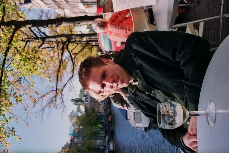 Dan Drinking Wine - Amsterdam, Netherlands