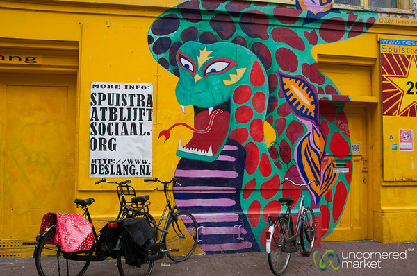 Street Art and Bicycles - Amsterdam