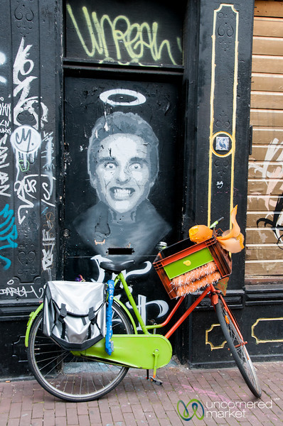 Street Art and Bicycle - Amsterdam