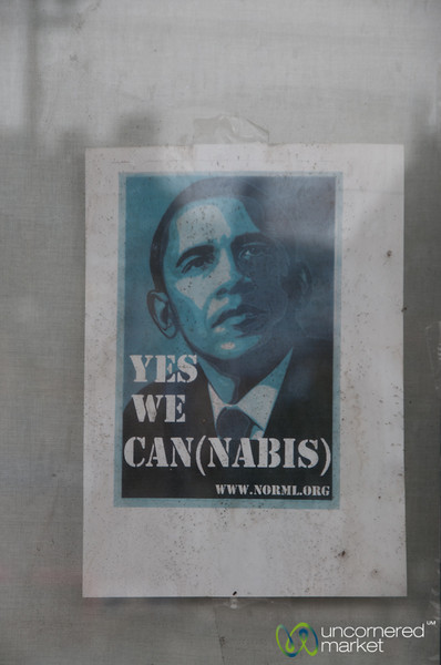 Humorous Obama Sign - Amsterdam