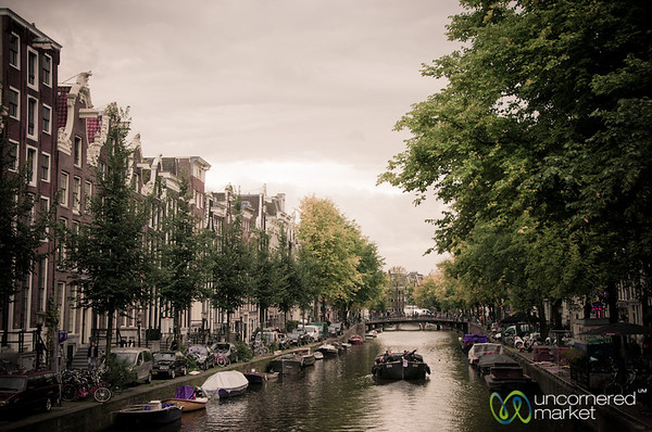 Boats on the Amsterdam Canals