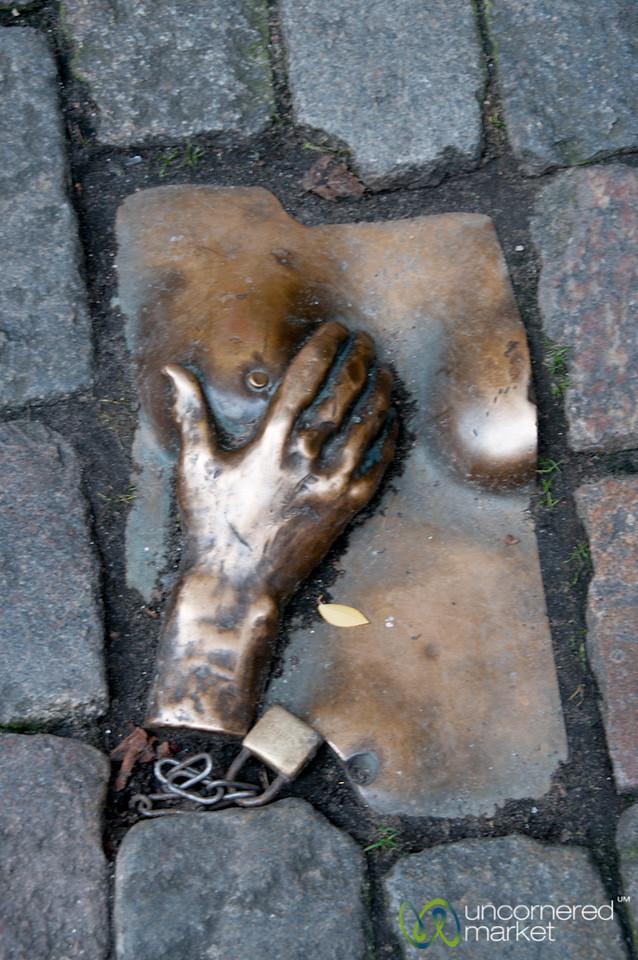 Provocative Art near Oude Kirk - Amsterdam, Netherlands