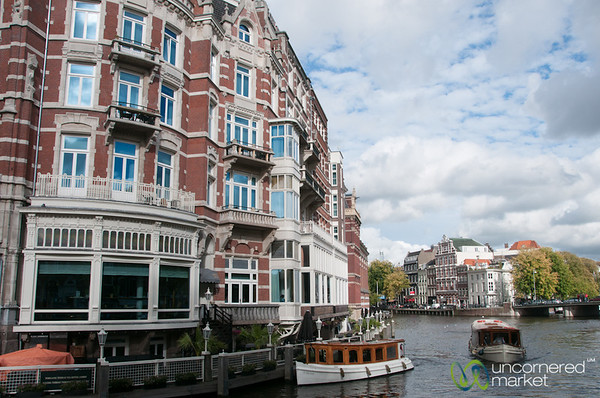 Amsterdam Gracht and Boats