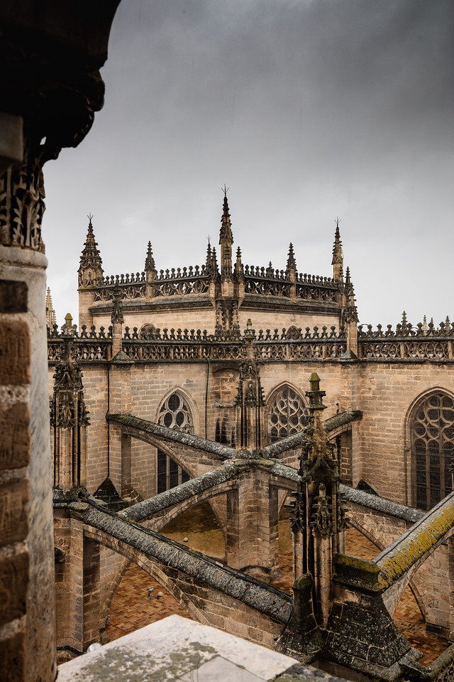 Or the complex architecture of the cathedral in Seville