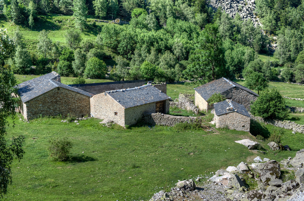 Bordes amidst forest and lush greens in Andorra