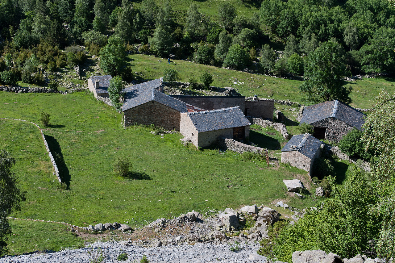 Closer view of the bordes in Andorra