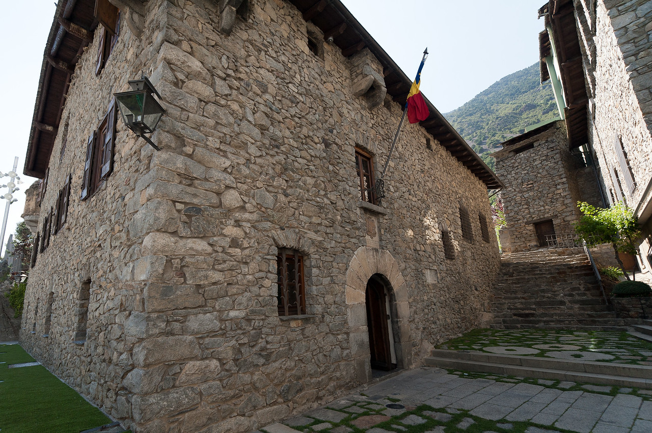 A small alley near the Casa de la Vall in Andorra
