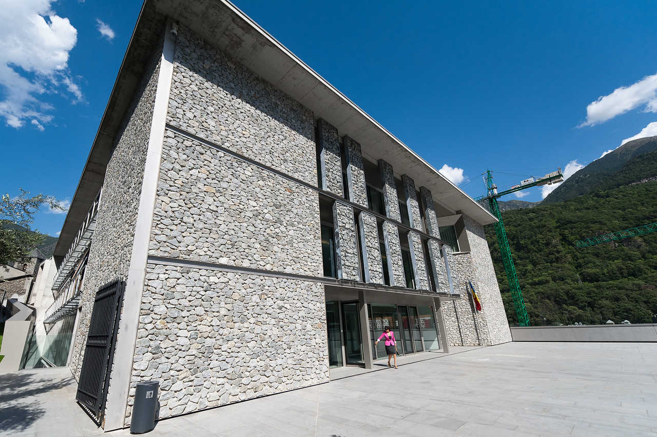 Outside the New Andorran Government Building