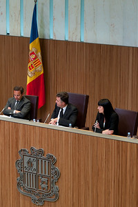 Session is ongoing inside Casa de la Vall in Andorra