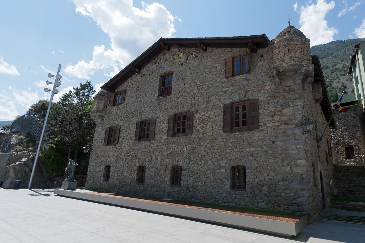 The simplistic facade of Casa de la Vall in Andorra
