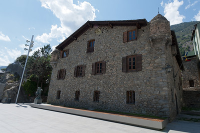 The simplistic facade of Casa de la Vall in Andorra