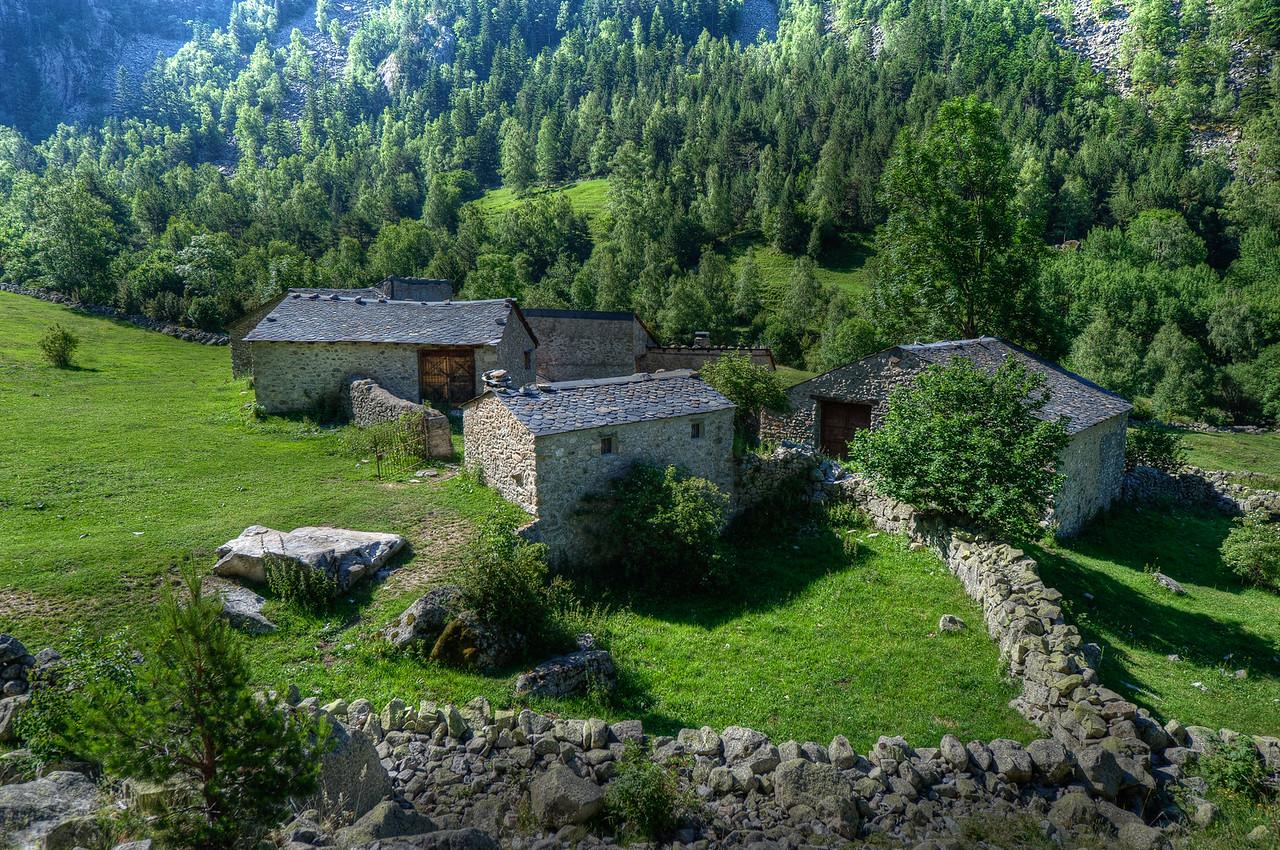 Lush greens surrounding the bordes in Andorra